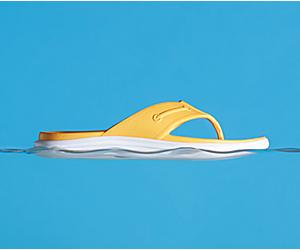 Windward Float Flip Flop, Goldfinch, dynamic