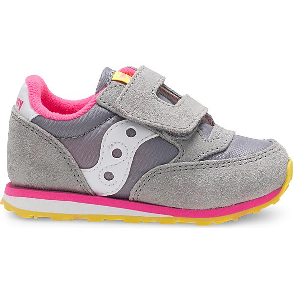 Baby Jazz Hook & Loop Sneaker, Grey / Pink, dynamic