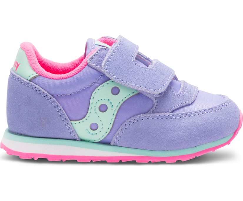 Baby Jazz Hook & Loop Sneaker, Periwinkle, dynamic