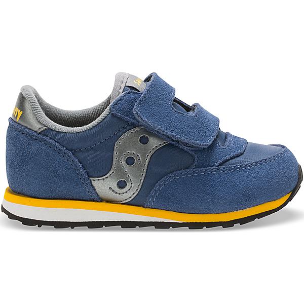 Baby Jazz Hook & Loop Sneaker, Blue/Grey, dynamic
