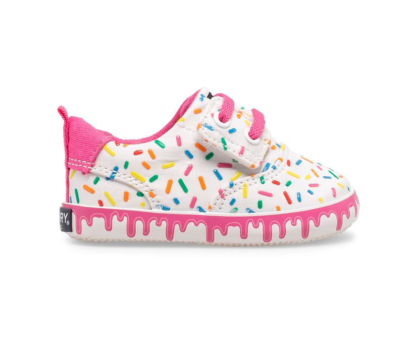 Spinnaker Crib Junior Washable Ice Cream Sneaker, White Multi, dynamic