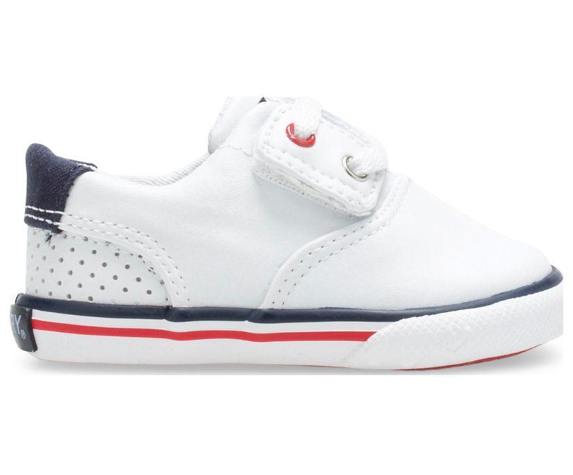 Striper II Crib Junior Sneaker, White, dynamic