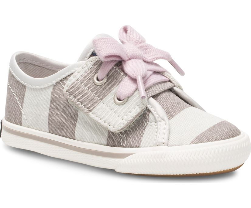 Lounge LTT Junior Sneaker, Grey/White Stripe, dynamic