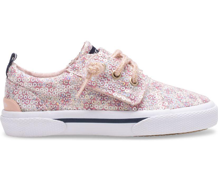 Pier Wave Junior Sneaker, Leopard Sequin, dynamic