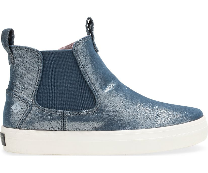 Crest Mid Sneaker, Navy Sparkle, dynamic