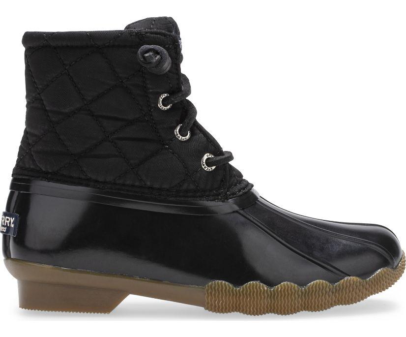 Saltwater Nylon Quilt Duck Boot, Black, dynamic