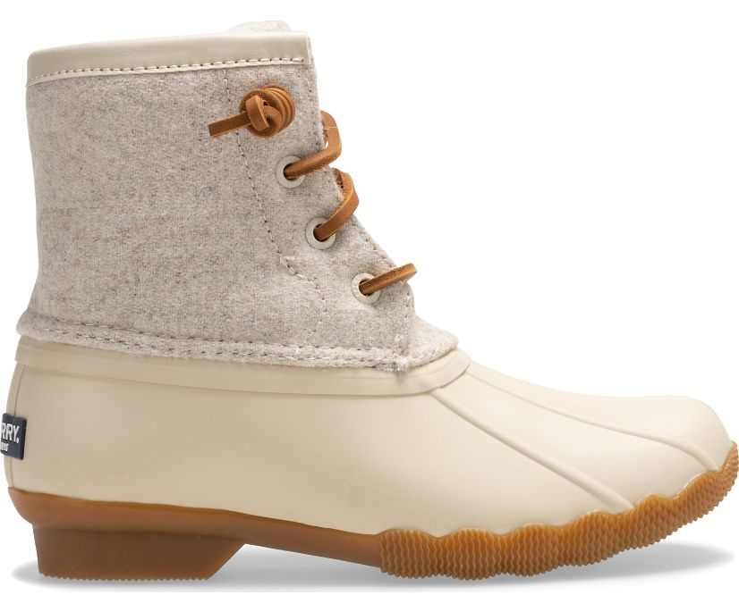 Saltwater Wool Duck Boot, Oat, dynamic