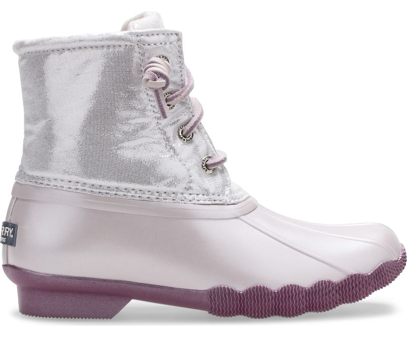 Saltwater Sparkle Duck Boot, Lilac, dynamic