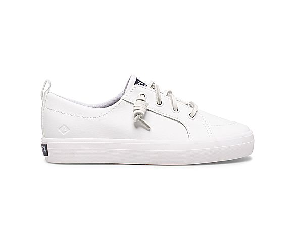 Crest Vibe Sneaker, All White, dynamic