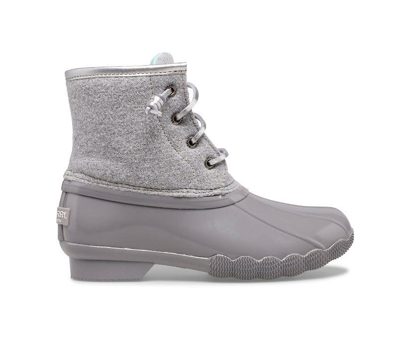 Saltwater Wool Duck Boot, Grey, dynamic