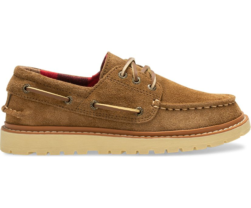 Authentic Original Twisted Lug Boat Shoe, Brown, dynamic