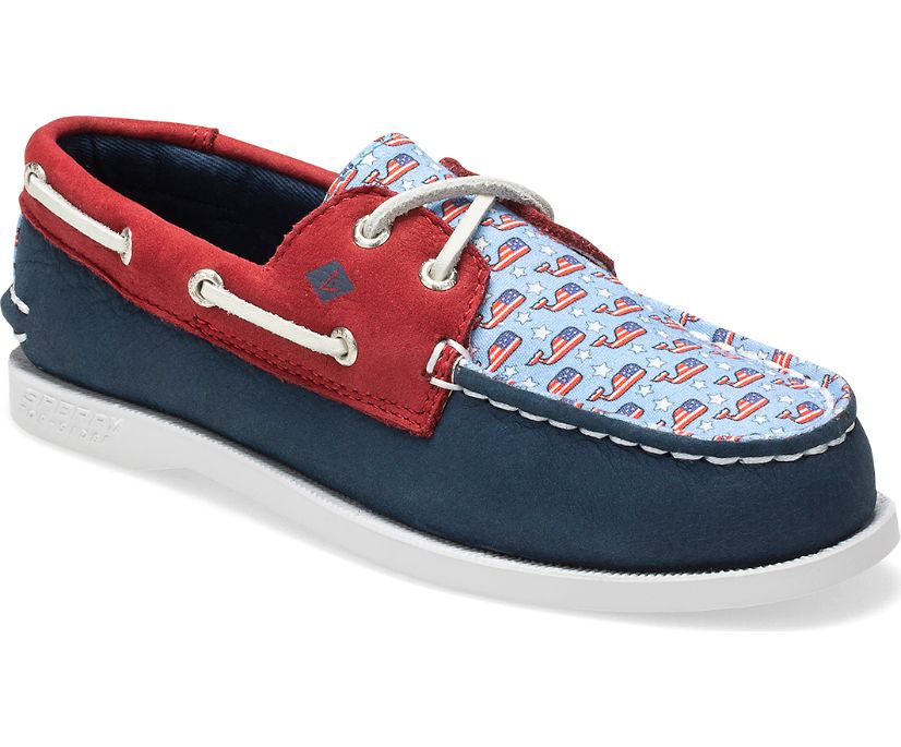 Sperry x vineyard vines Authentic Original Boat Shoe, Navy  / Print, dynamic