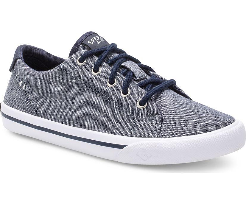 Striper II Sneaker, Dark Chambray, dynamic