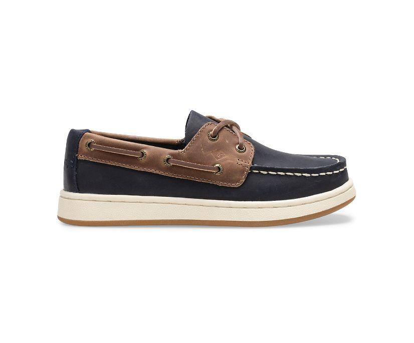 Sperry Cup II Boat Shoe, Navy/Tan, dynamic