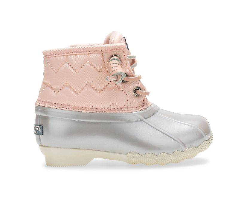 Saltwater Boot, Pink/Silver, dynamic