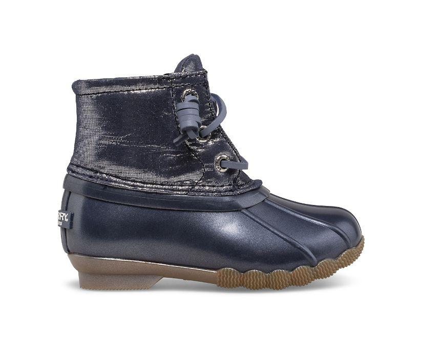 Saltwater Metallic Duck Boot, Blue, dynamic
