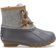 Saltwater Wool Duck Boot, Grey, dynamic