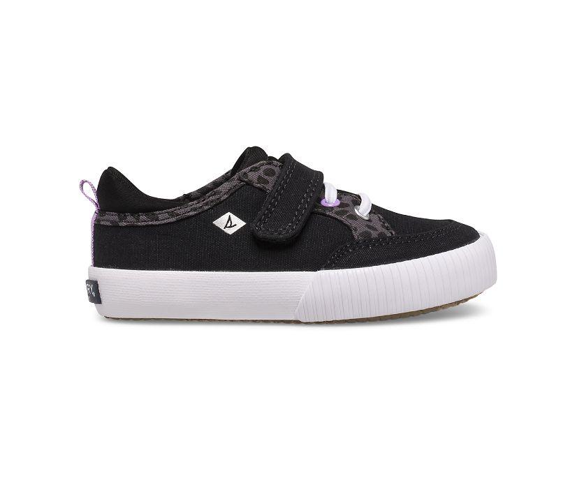 Covetide Washable Junior Sneaker, Black/Animal, dynamic