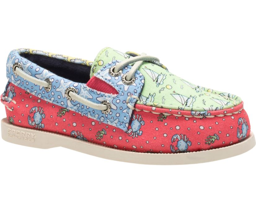Sperry x vineyard vines Heritage Patchwork Authentic Original Slip On Boat Shoe, Multi, dynamic