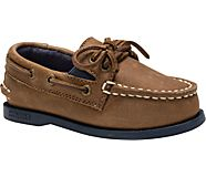 Sperry x vineyard vines Authentic Original Slip On Boat Shoe, Sahara/Navy, dynamic