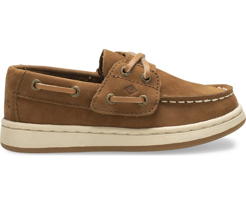 Sperry Cup II Junior Boat Shoe, Brown, dynamic