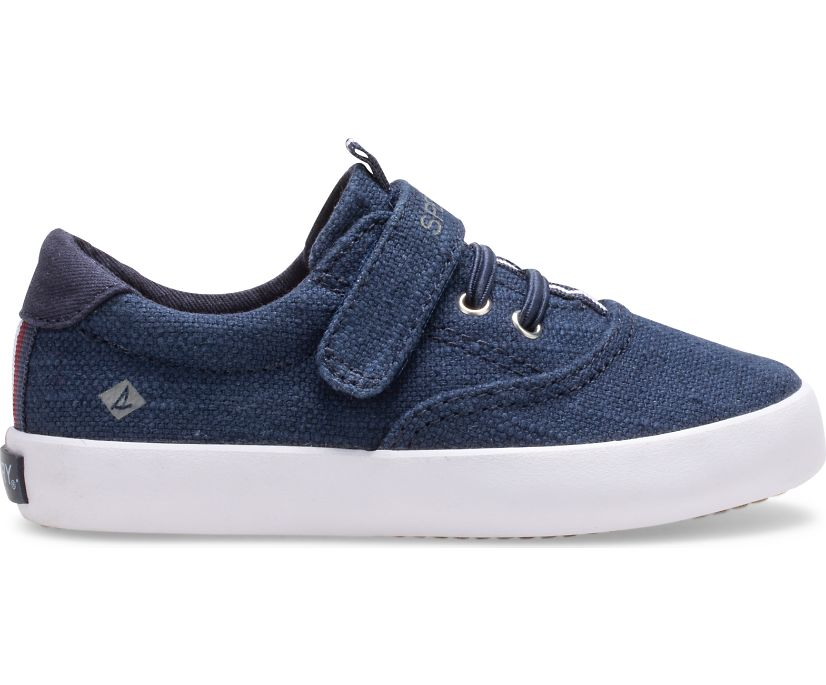 Spinnaker Washable Junior Sneaker, Navy, dynamic