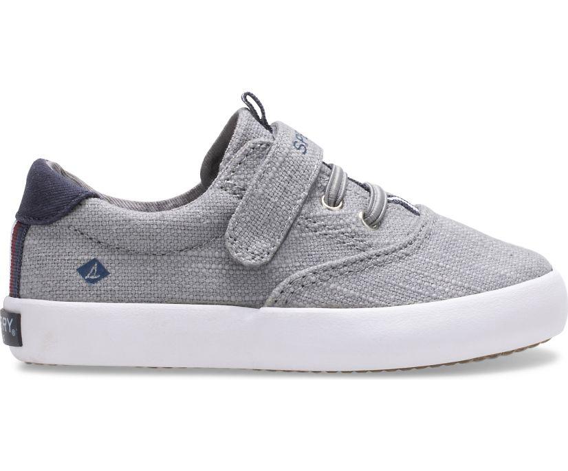 Spinnaker Washable Junior Sneaker, Grey, dynamic