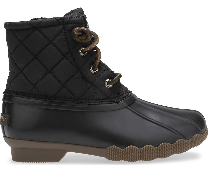 Saltwater Quilted Duck Boots, Black, dynamic