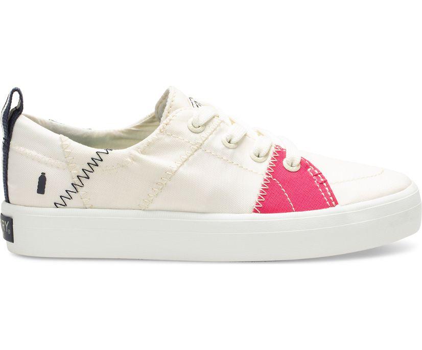 Crest Vibe BIONIC® Sneaker, White/Pink/Green, dynamic