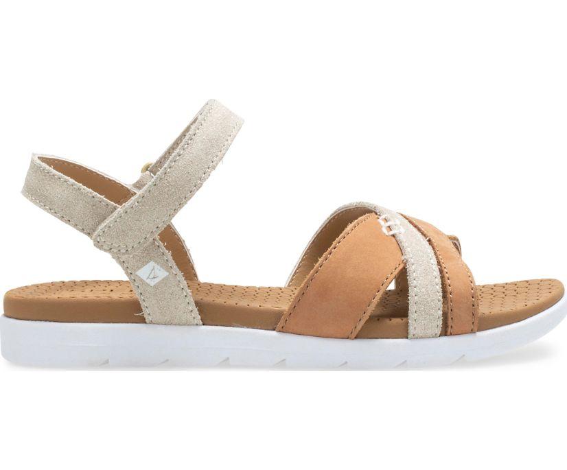 Leeway Sandal, Brown/Gold, dynamic