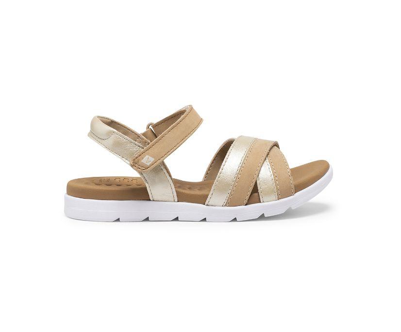 Leeway PLUSHWAVE Sandal, Gold, dynamic