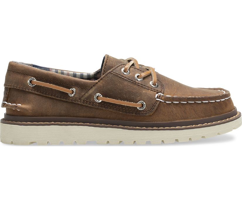 Authentic Original Twisted Lug Boat Shoe, Dark Tan, dynamic