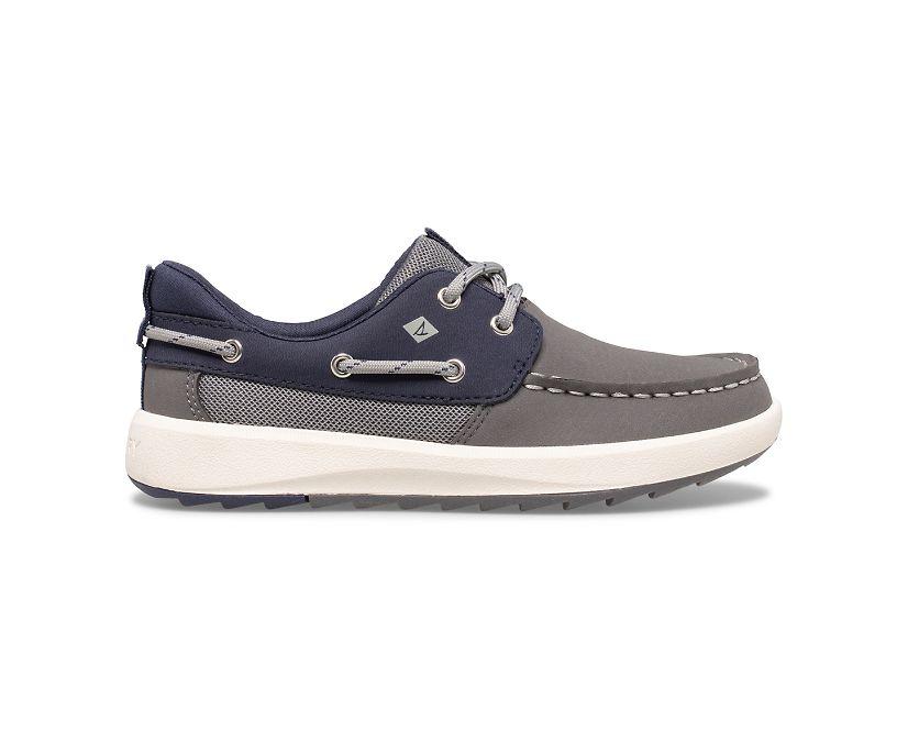 Fairwater PLUSHWAVE Boat Shoe, Grey/Navy, dynamic