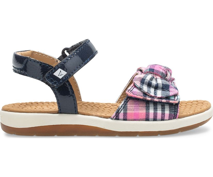 Galley Sandal, Navy/Plaid, dynamic