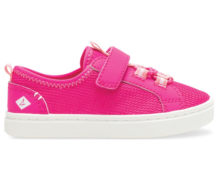 Abyss Hook & Loop Washable Sneaker, Hot Pink, dynamic