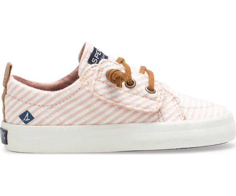 Crest Vibe Junior Sneaker, Pink Seersucker, dynamic