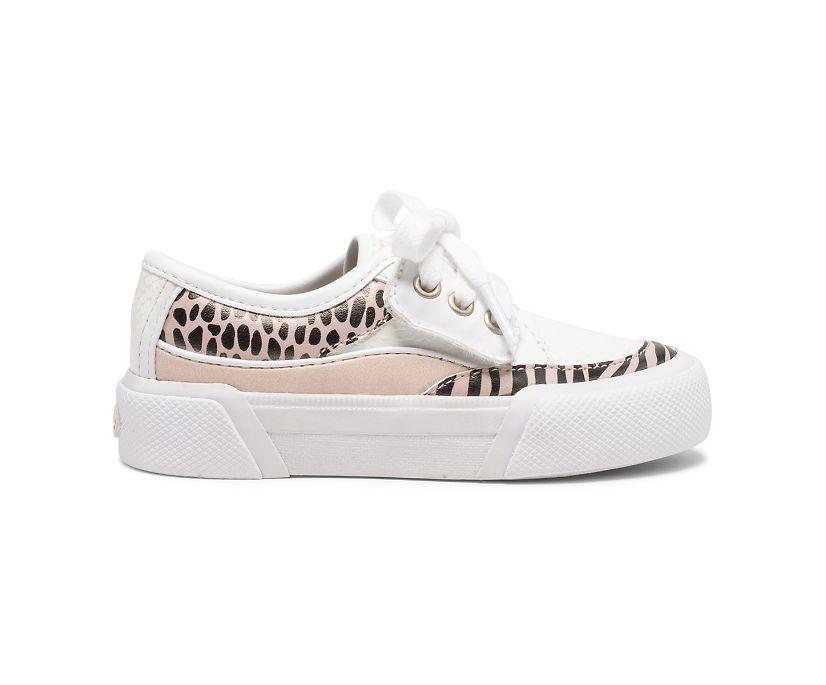 Soletide Junior Sneaker, White/Blush, dynamic
