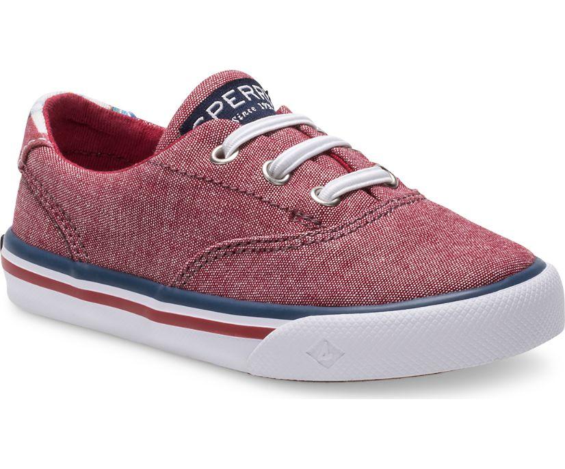 Striper II Junior Sneaker, Red, dynamic