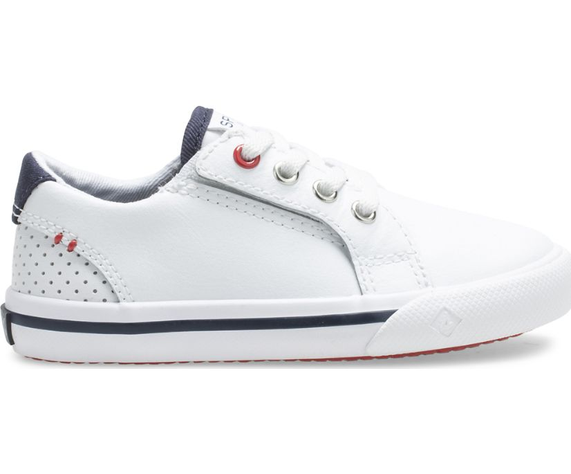 Striper II Junior Sneaker, White, dynamic