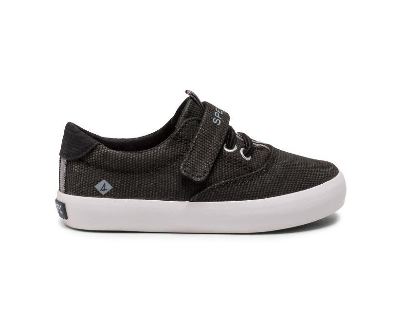Spinnaker Washable Junior Sneaker, Black, dynamic
