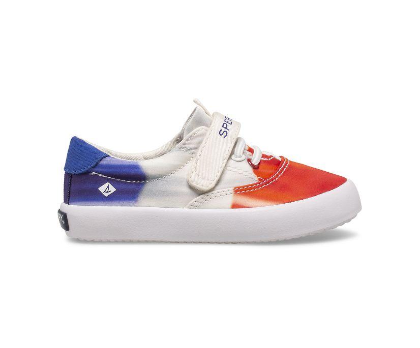 Spinnaker Washable Ice Cream Junior Sneaker, Red/White/Blue, dynamic