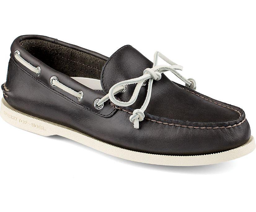 Authentic Original Cyclone 1-Eye Boat Shoe, Dark Gray, dynamic