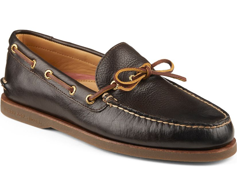 Gold Cup Authentic Original 1-Eye Boat Shoe, Brown, dynamic