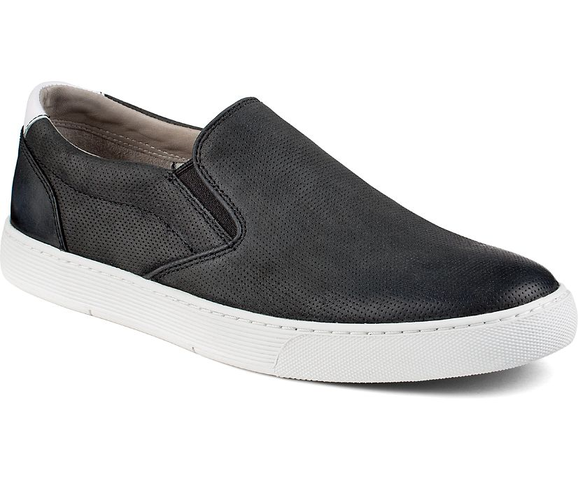 Gold Cup Sport Casual Slip On Perforated Sneaker, Black, dynamic