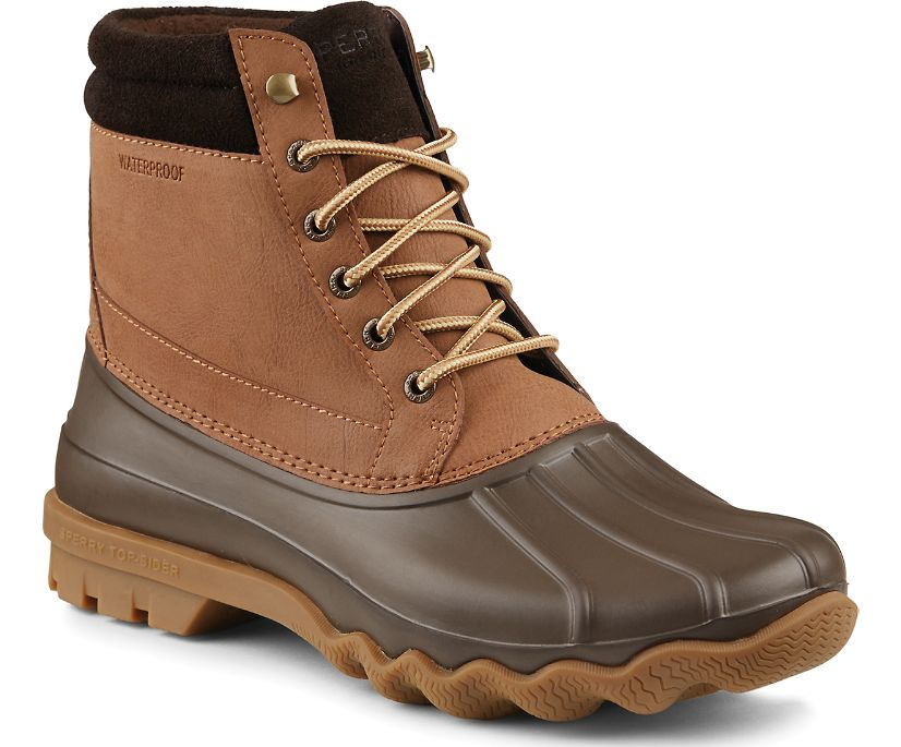 Brewster Waterproof Duck Boot, Dark Tan, dynamic