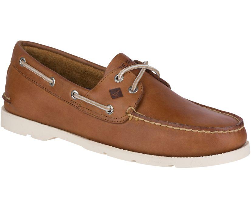 Leeward 2-Eye Boat Shoe, Tan, dynamic
