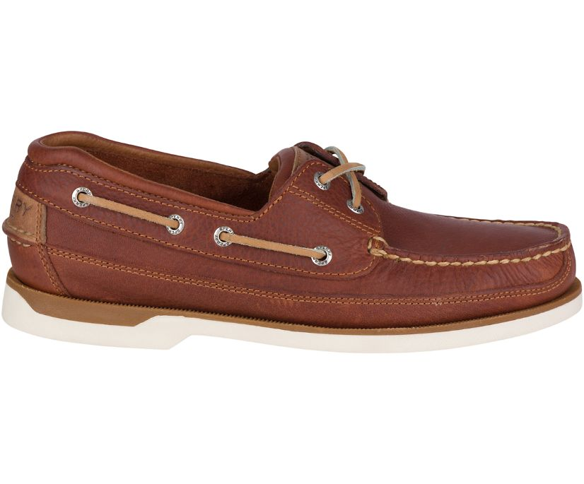 Mako 2-Eye Boat Shoe, Tan, dynamic