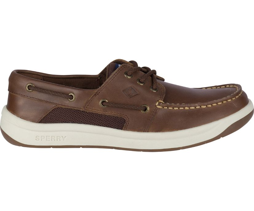 Convoy 3-Eye Boat Shoe, Brown, dynamic