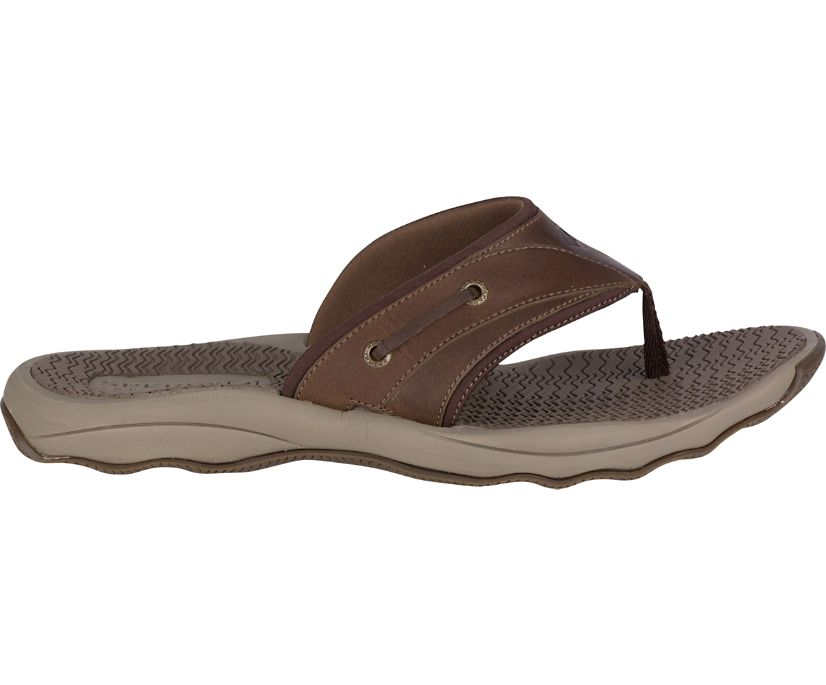 Outer Banks Flip Flop, Brown, dynamic