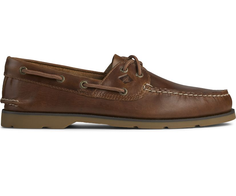 Leeward 2-Eye Yacht Club Boat Shoe, Tan, dynamic